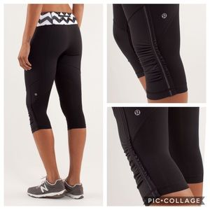 NWT! Lululemon 🍋 Run for Your Life Crop Black